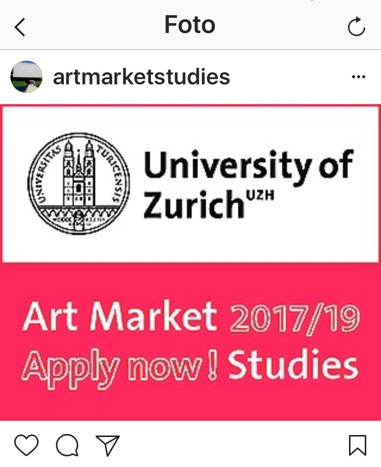 UZH Art Market Studies Apply Now