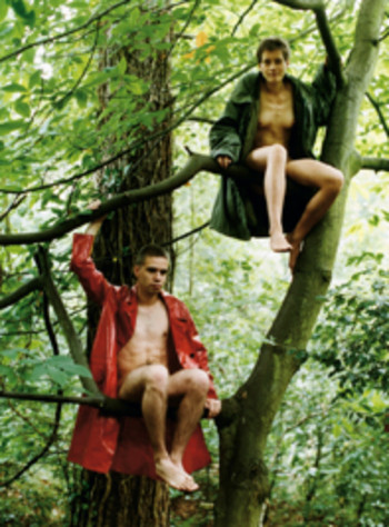 Wolfgang Tillmans, Alex and Lutz Sitting in the Trees, 1992